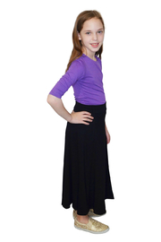 Kosher Casual Girls Maxi Skirt Flowing A-Line - Side cropped