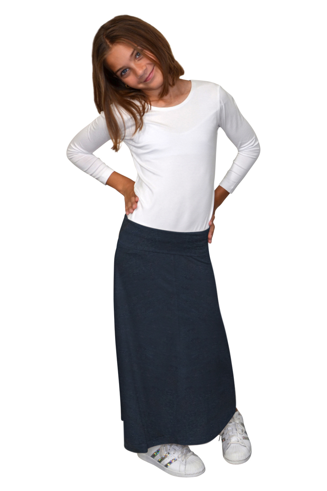 Kosher Casual Girls Maxi Skirt Flowing A-Line - Main Image