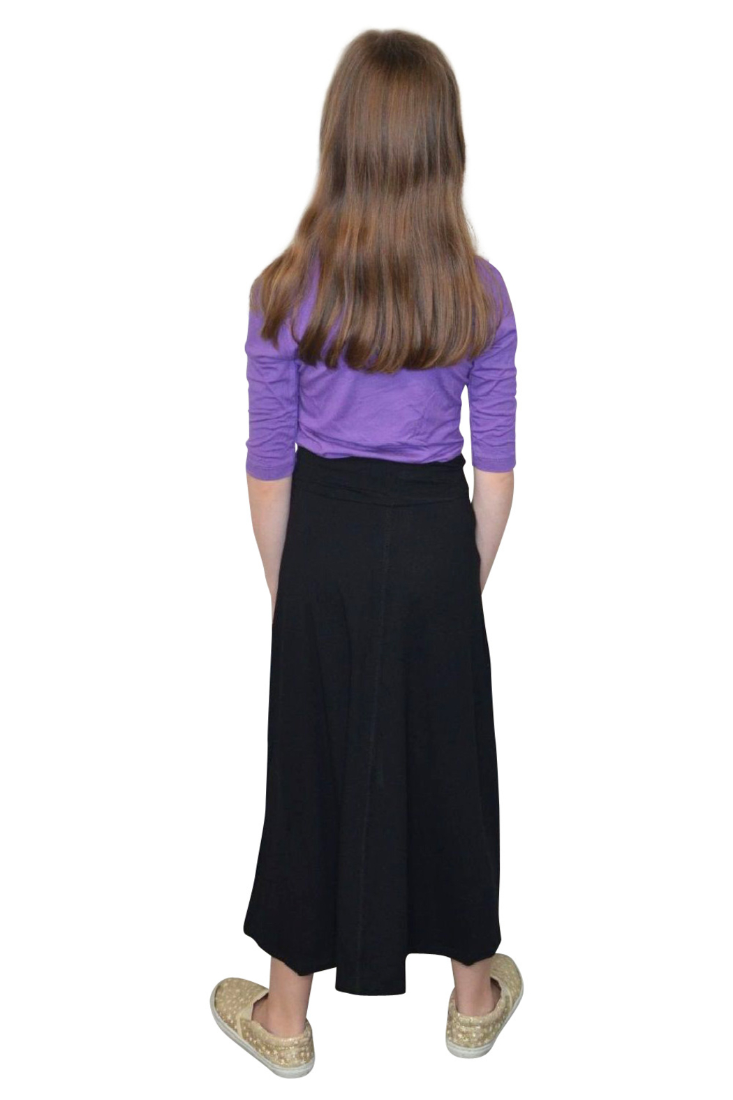 Kosher Casual Girls Maxi Skirt Flowing A-Line - Front Full Image