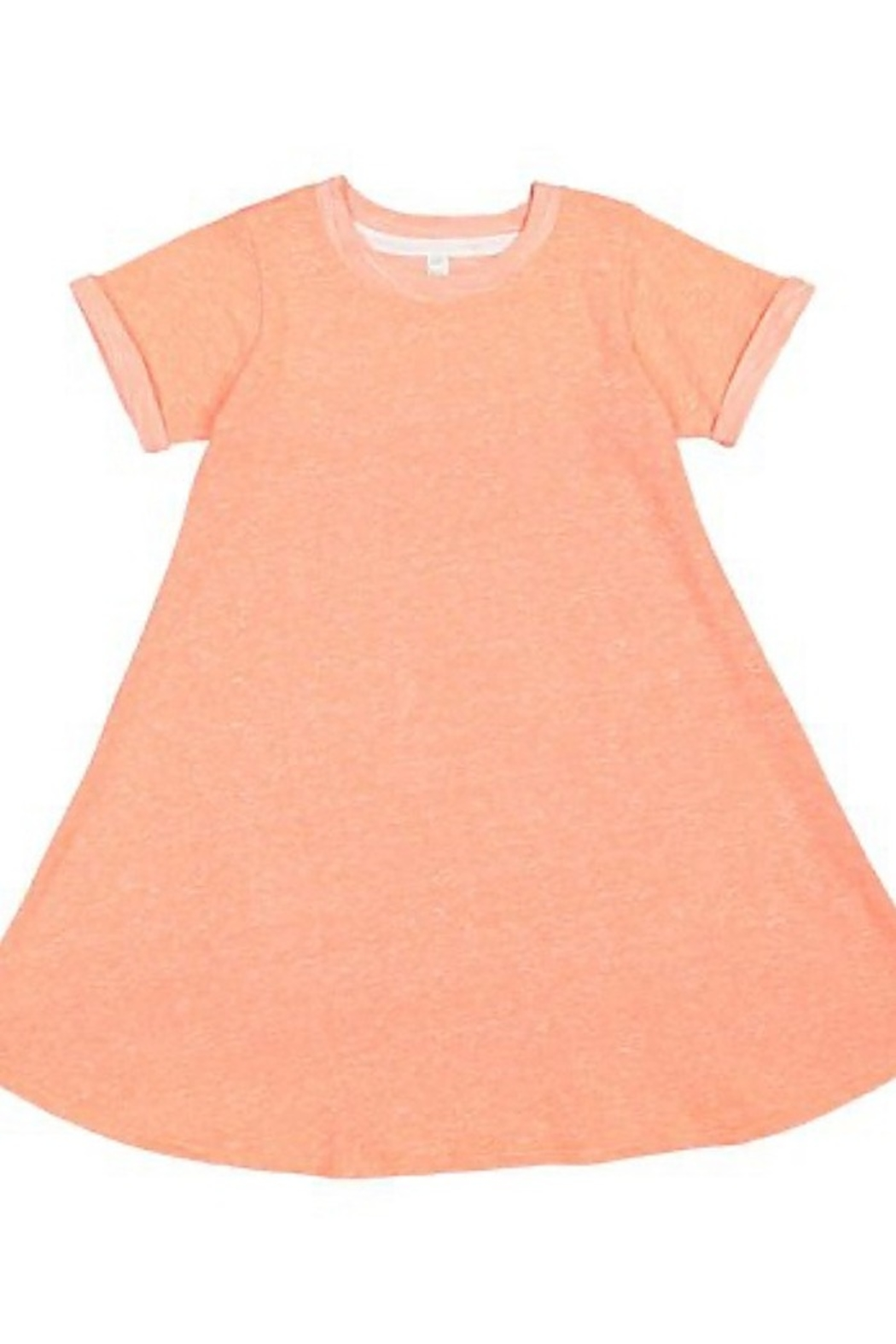 LAT GIRLS MELANGE FRENCH TERRY DRESS - Front Cropped Image