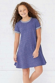 LAT GIRLS MELANGE FRENCH TERRY DRESS - Product Mini Image