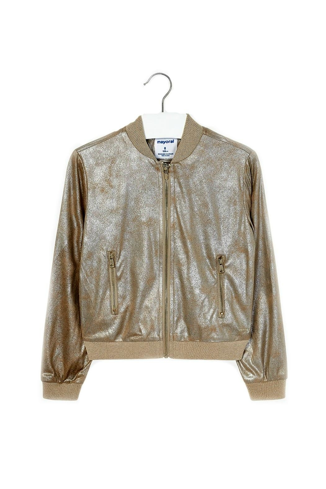 4f27ce14236 Mayoral Girls-Metallic-Gold-Bomber-Style-Jacket from Minnesota by ...