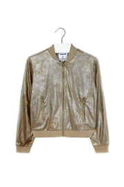 Mayoral Girls-Metallic-Gold-Bomber-Style-Jacket - Product Mini Image