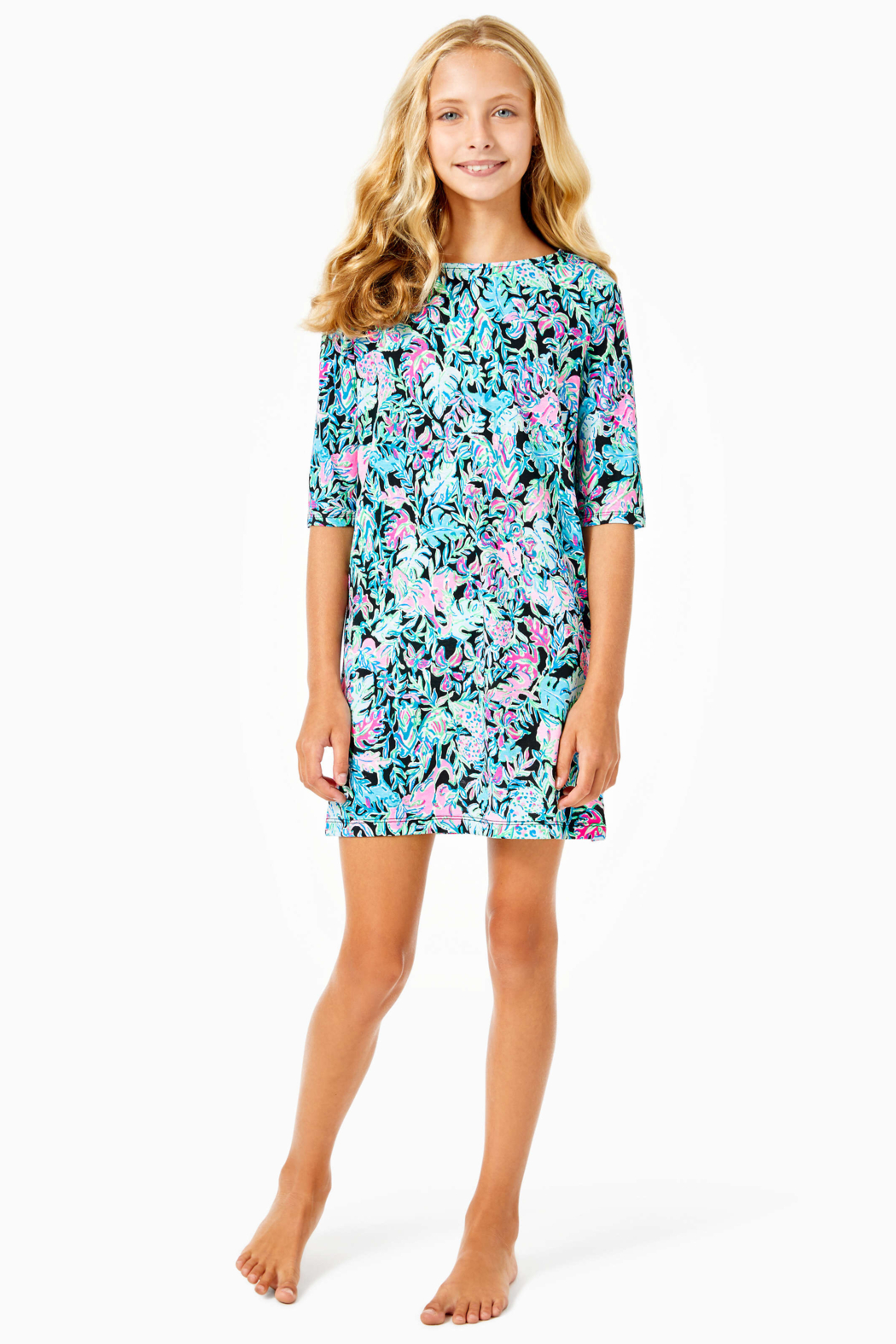 Lilly Pulitzer  Girls Mini Marlowe Dress - Back Cropped Image
