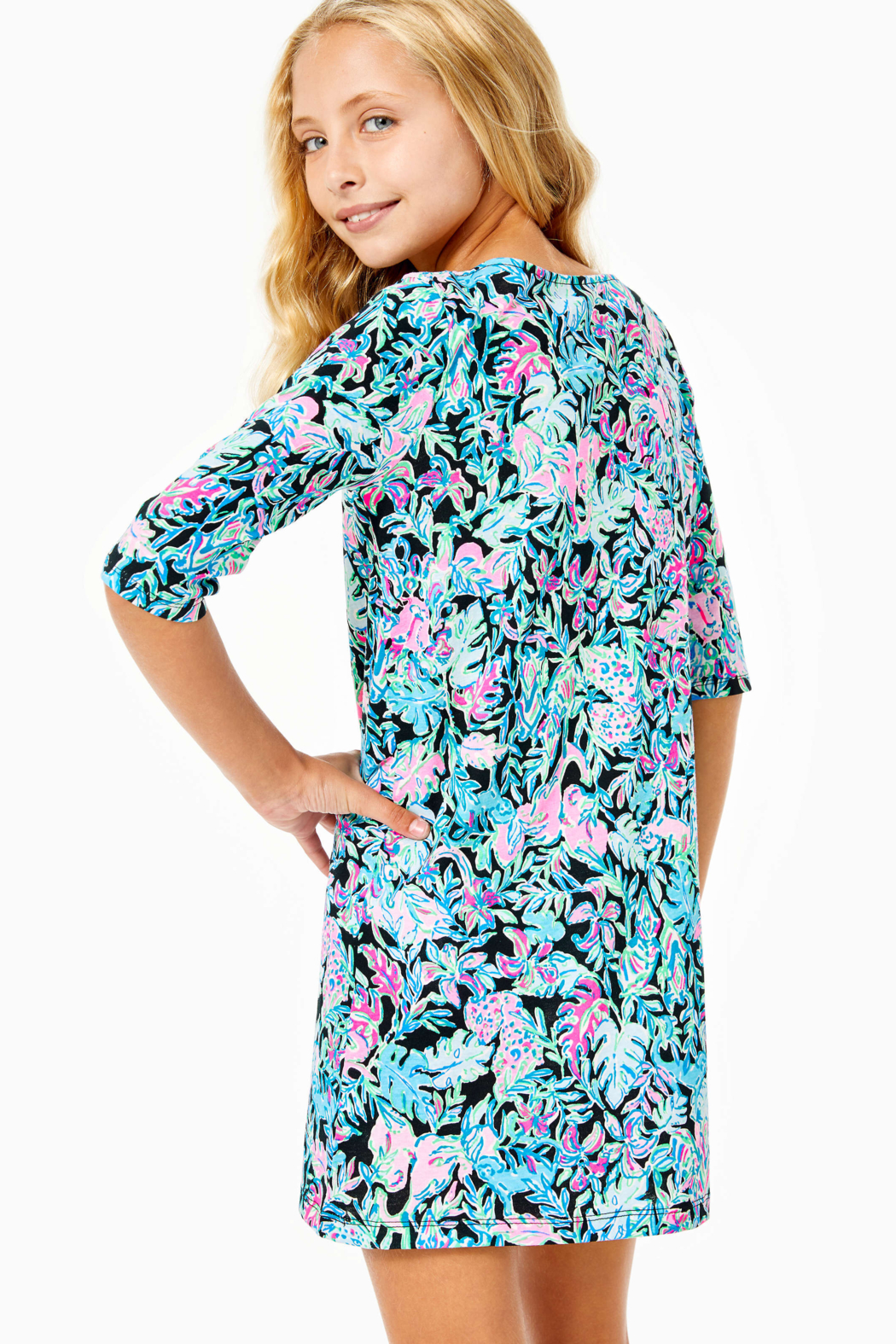 Lilly Pulitzer  Girls Mini Marlowe Dress - Side Cropped Image