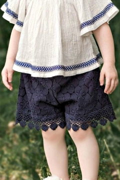 Shoptiques Product: Girls Navy-Lace Shorts