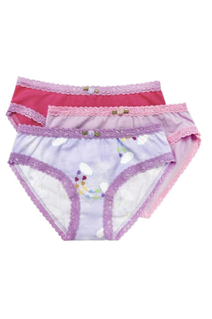 Shoptiques Product: Girls Panty 3 Pack - Rainbow Hearts