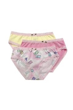 Shoptiques Product: Girls Panty 3 Pack - Shimmer Candy Bears