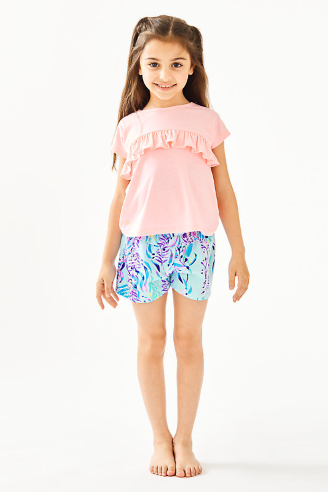 Lilly Girls Petal Top - Front Cropped Image