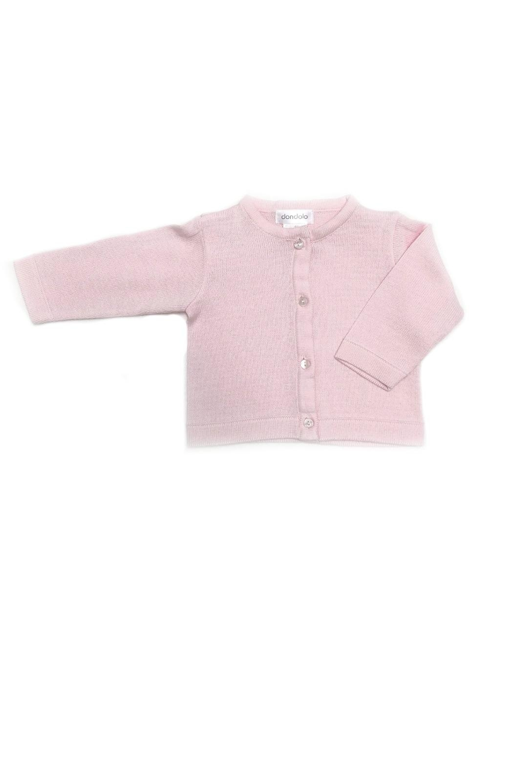Dondolo Girls Pink Cardigan - Front Cropped Image