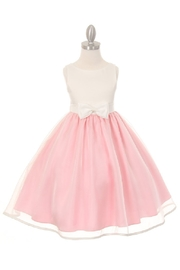 Cinderella Couture Girls Pink & Ivory Short Dress - Product Mini Image
