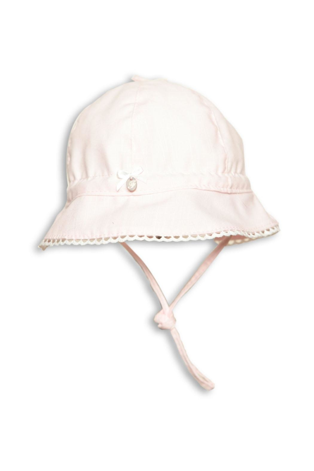 First Girls Pink Sun-Hat - Front Cropped Image