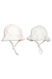 First Girls Pink Sun-Hat - Front full body