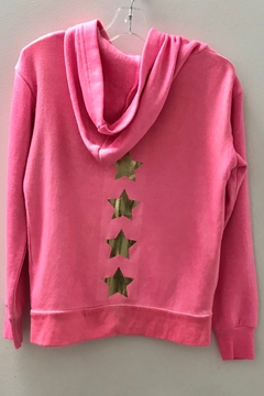 Vintage Havana GIRLS pink zip hoodie with stars - Alternate List Image