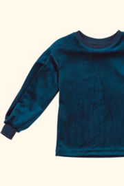 Three Bows GIRLS Puff Sleeve Velour Top - Product Mini Image