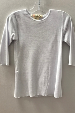 Shoptiques Product: GIRLS RIB BASIC 3/4 SLEEVE TSHIRT