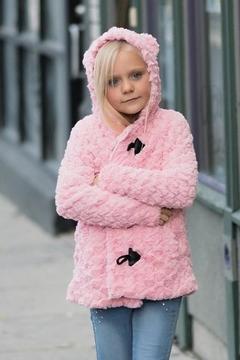 Shoptiques Product: Girls Shearling Heart Coat