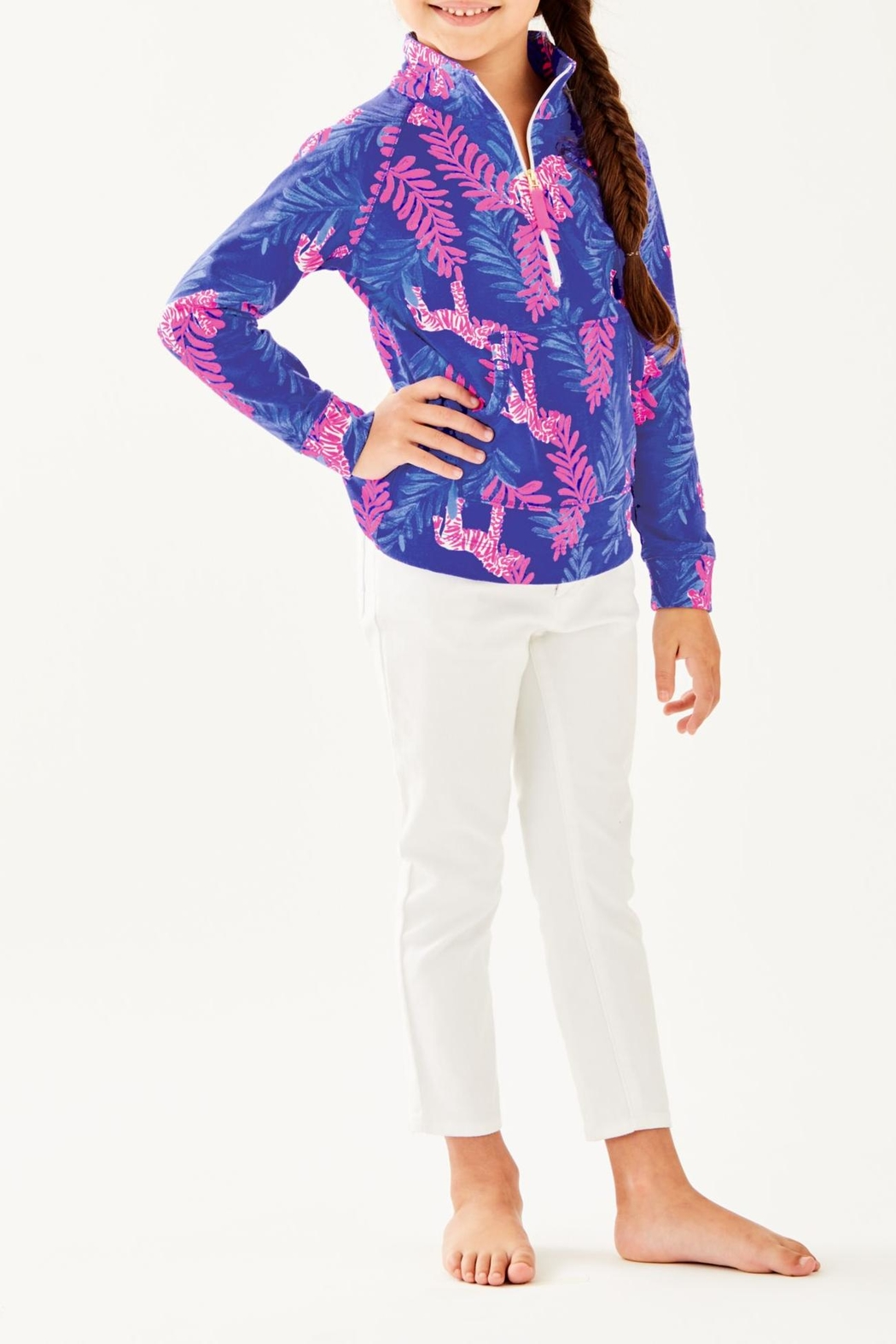 Lilly Pulitzer Girls Skipper Popover - Front Cropped Image