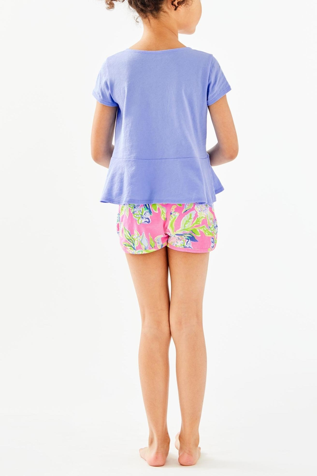 Lilly Pulitzer Girls Sondra Peplum-Top - Front Full Image