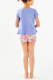 Lilly Pulitzer Girls Sondra Peplum-Top - Front full body