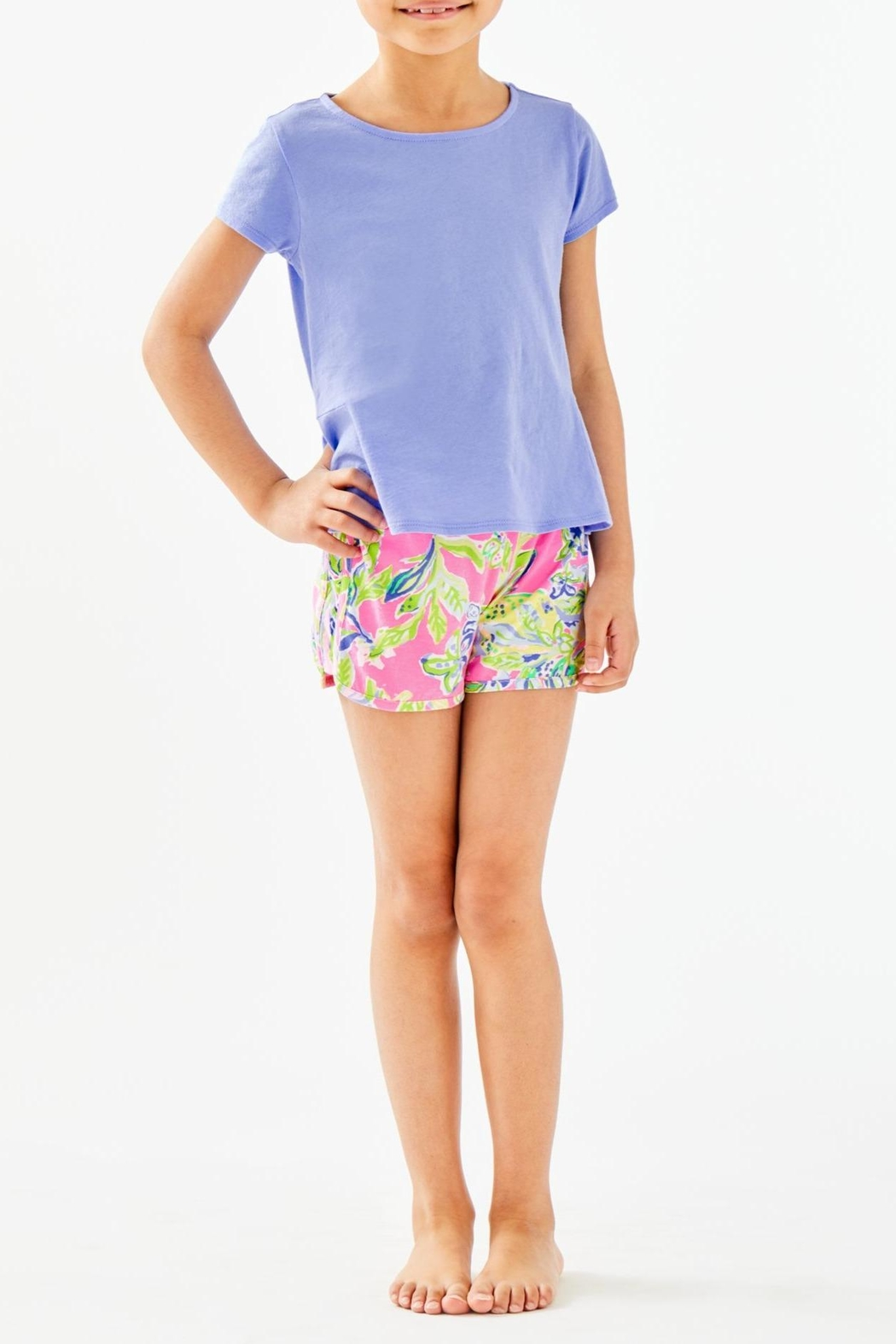 Lilly Pulitzer Girls Sondra Peplum-Top - Main Image