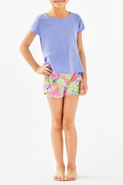 Lilly Pulitzer Girls Sondra Peplum-Top - Front cropped