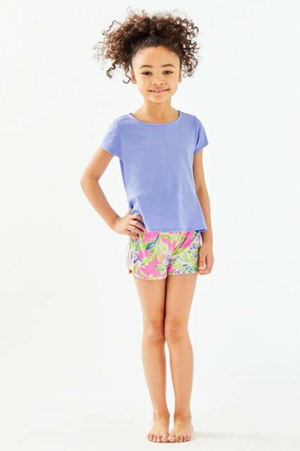 Lilly Pulitzer  Girls Sondra Top - Front Cropped Image