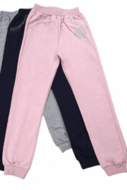 Slumber Party Girls Sweat Pants with Beads-Pink - Product Mini Image