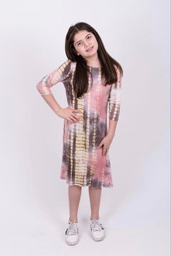 Shoptiques Product: GIRLS Tie Dye A-line dress