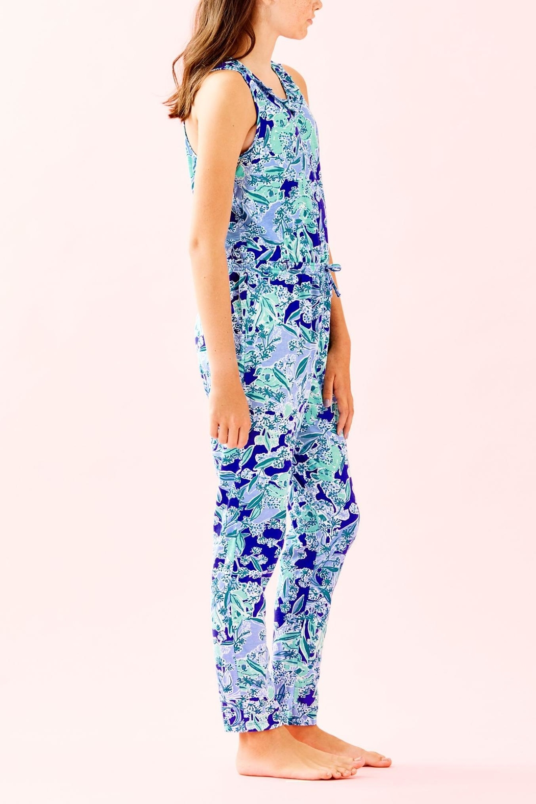 Lilly Pulitzer Girls Vala Jumpsuit - Side Cropped Image