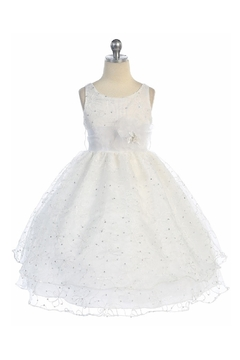 Shoptiques Product: Girls White Embroidered Short Dress