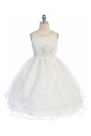 Calla Collection  Girls White Embroidered Short Dress - Product Mini Image