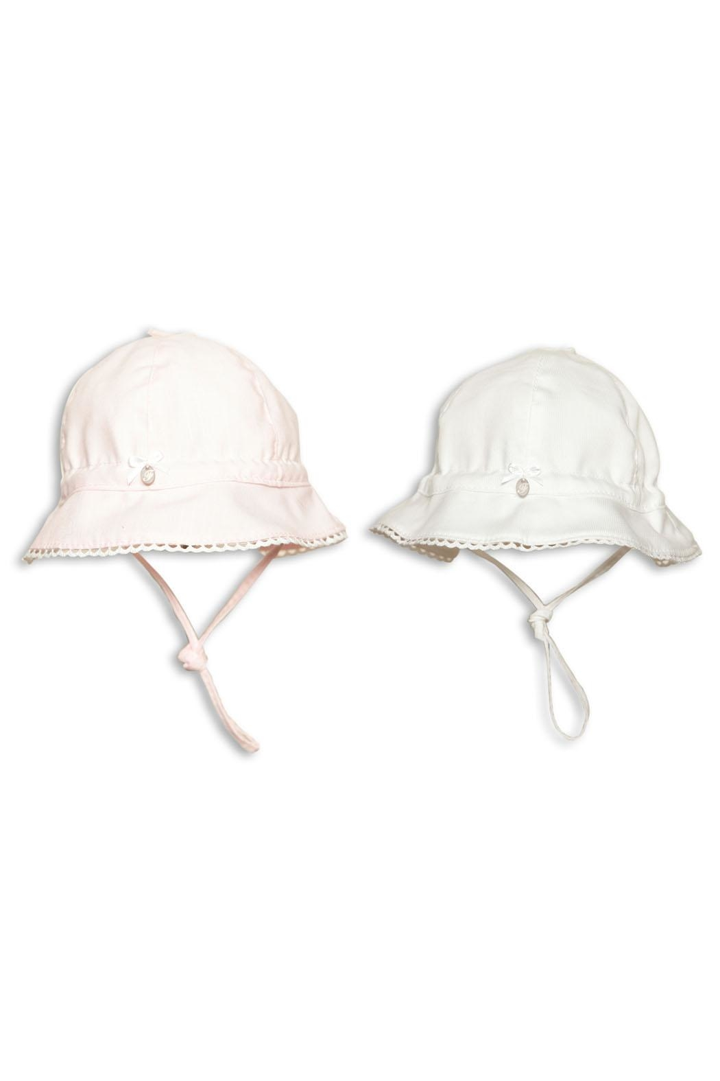 First Girls White Sun-Hat - Front Full Image
