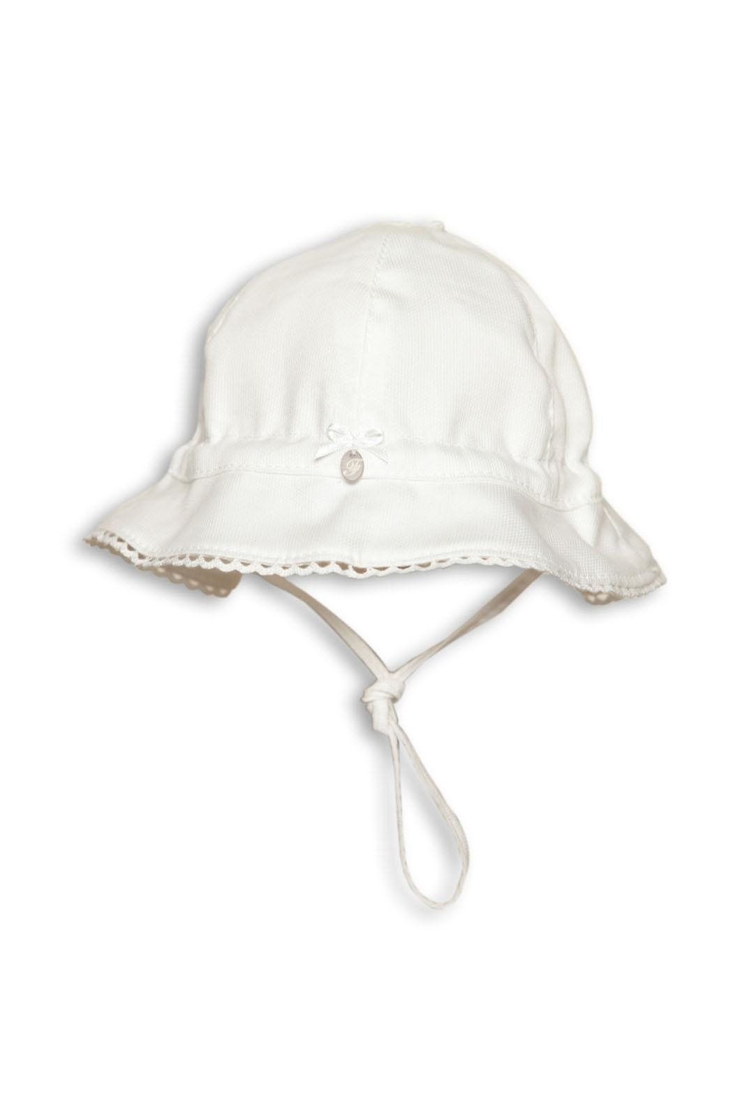 First Girls White Sun-Hat - Front Cropped Image