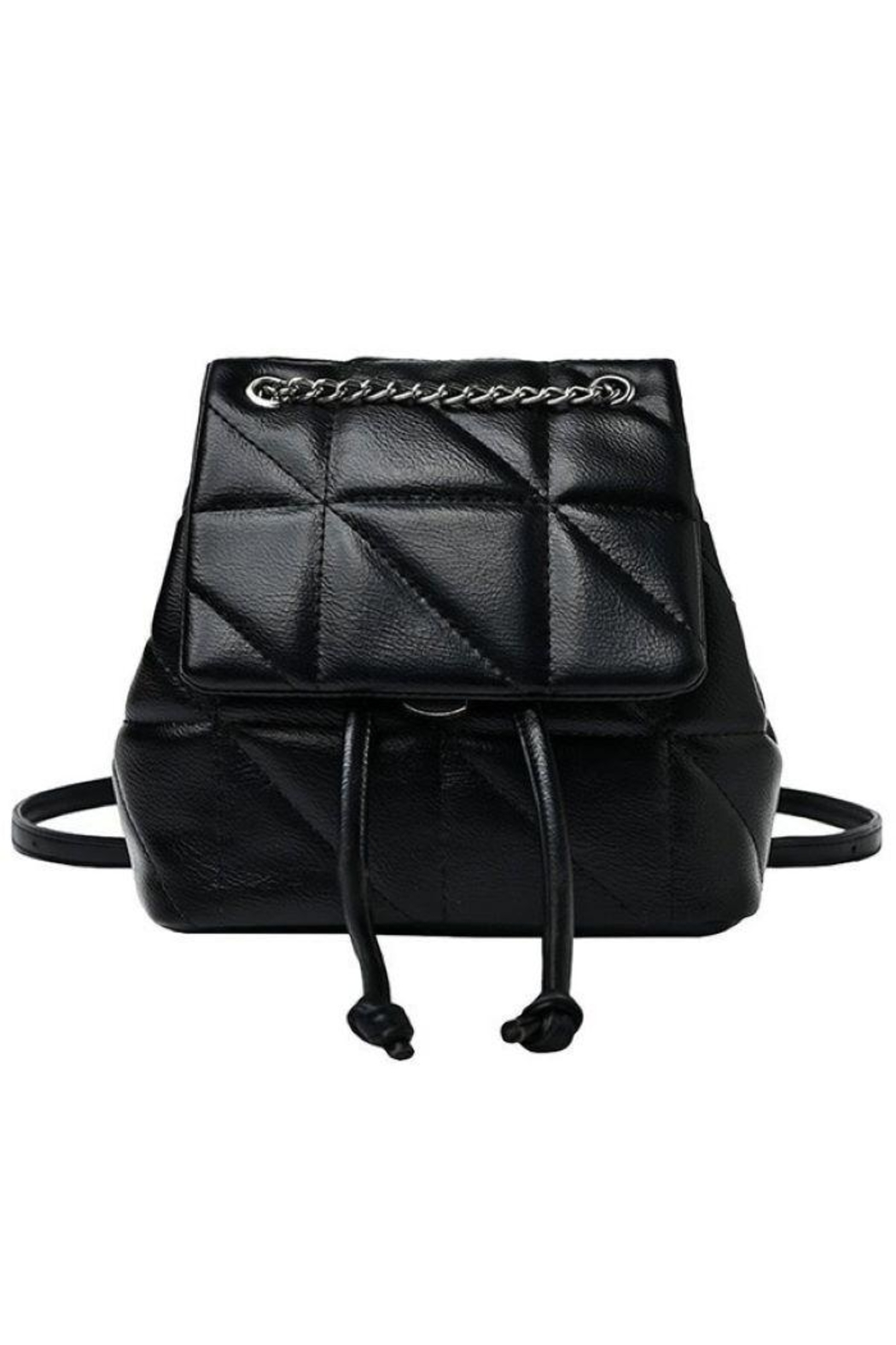 Girly Chained Quilted Mini Backpack - Main Image