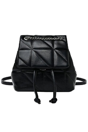 Girly Chained Quilted Mini Backpack - Product Mini Image