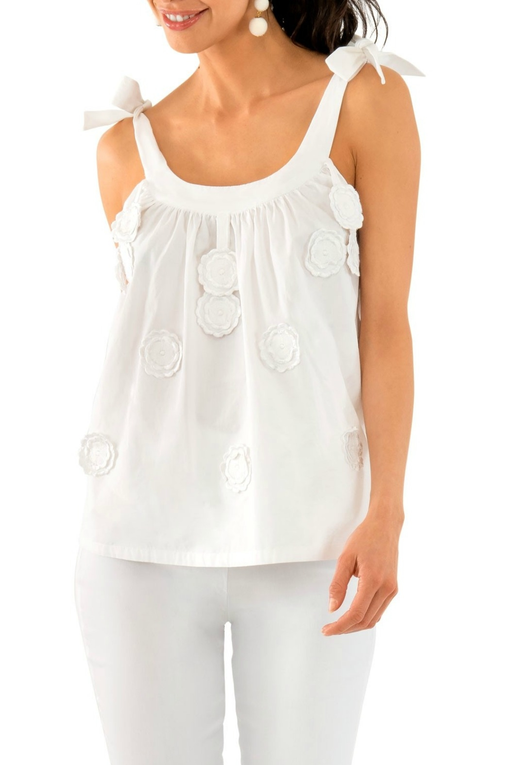 Gretchen Scott Girly Girl - Cotton Embroidered Top - Main Image