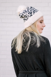 Girly Leopard Stocking Hat - Front cropped