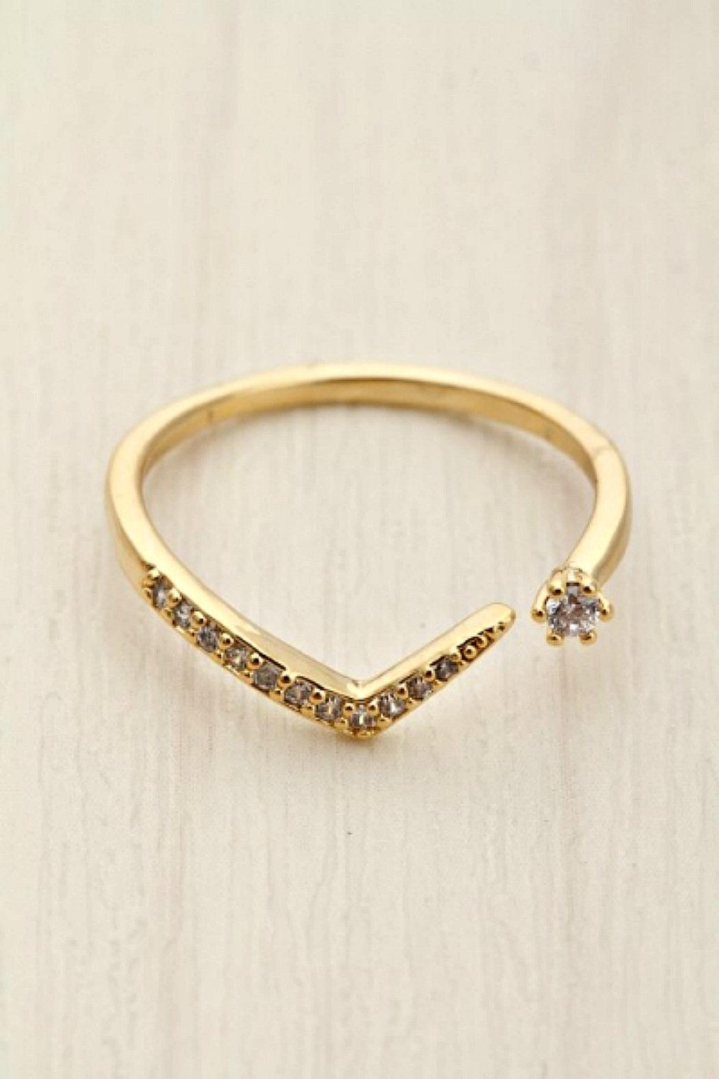 Girly V Cz Ring - Main Image