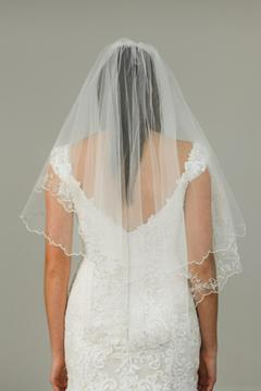 Shoptiques Product: Beaded Embroidery Veil