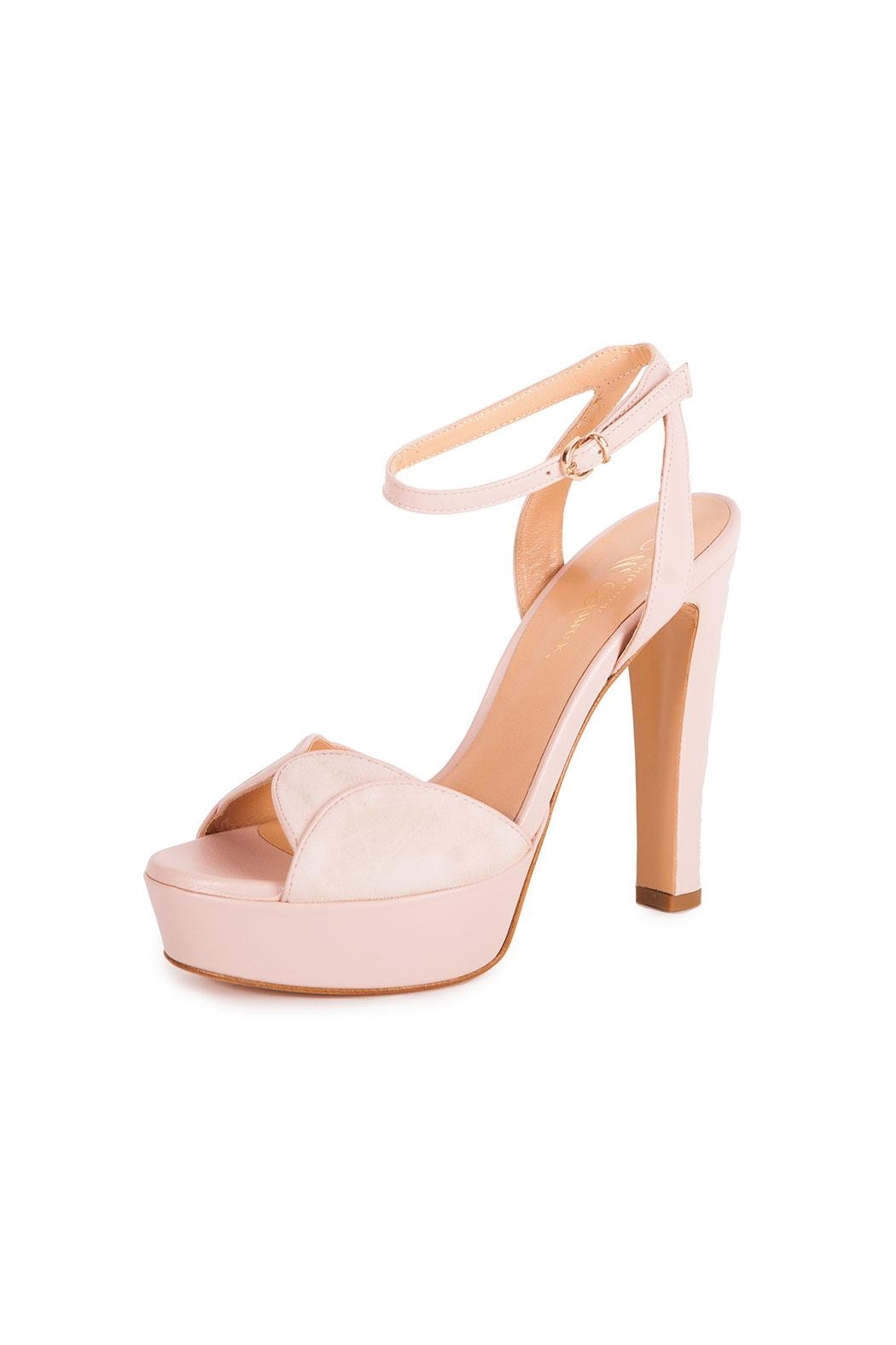 Giuseppe Flessigno Leather Platform Heels - Front Cropped Image