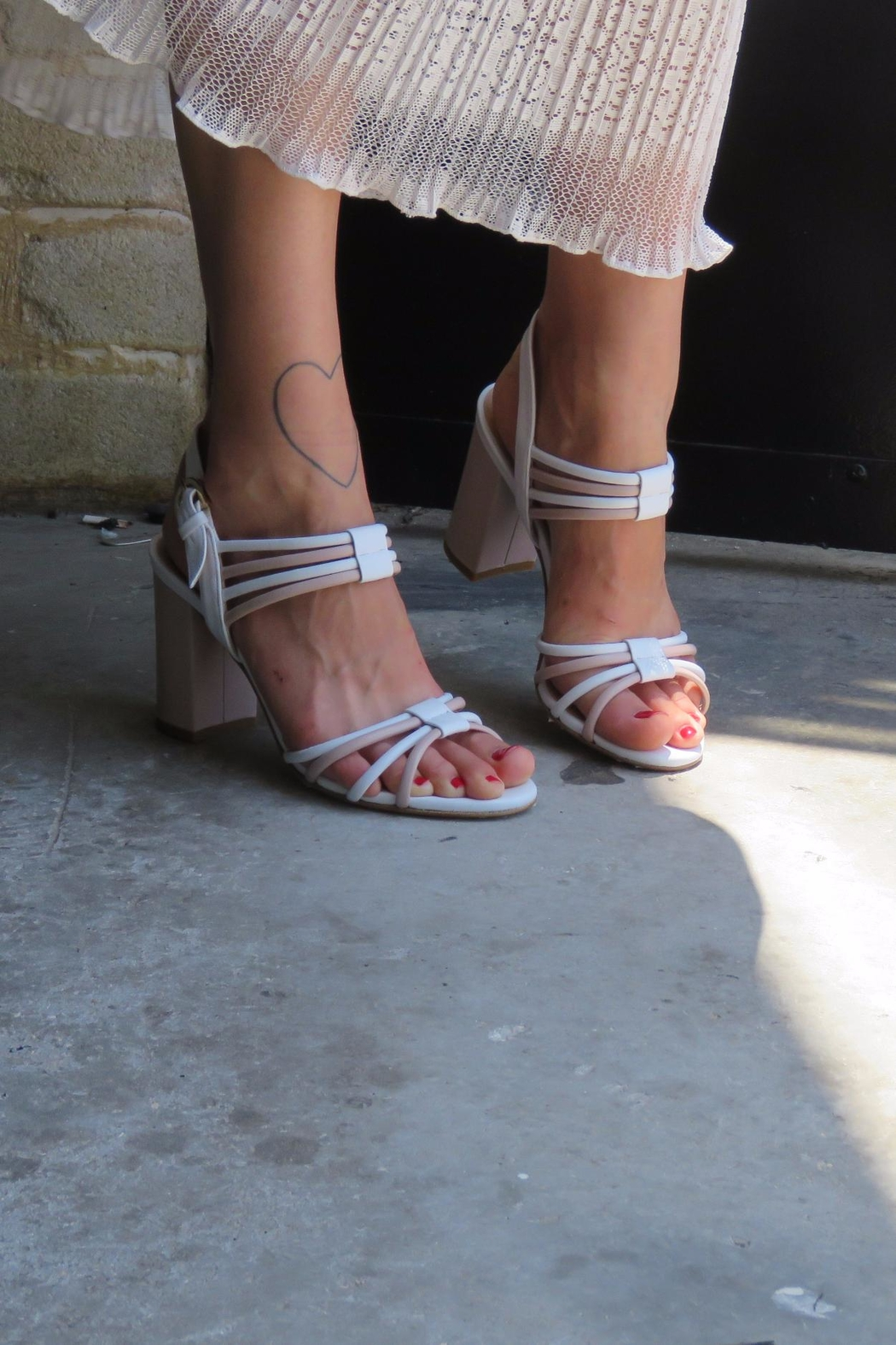 Giuseppe Flessigno Leather Straps Sandals - Side Cropped Image