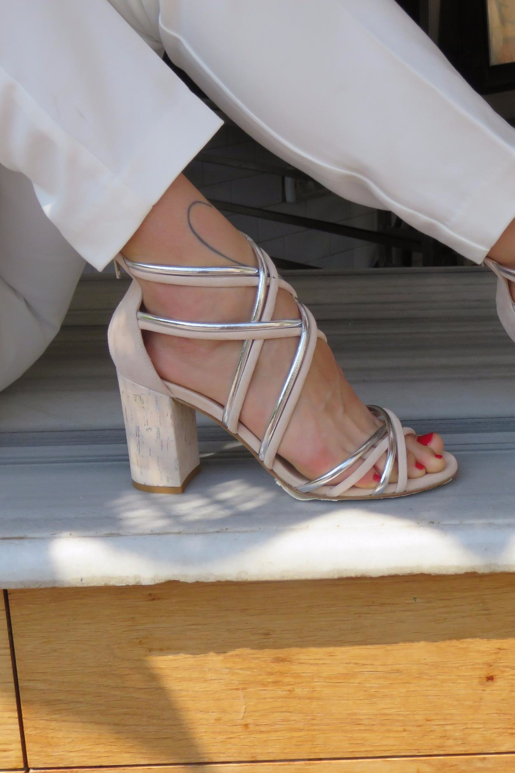 Giuseppe Flessigno Multicolor Straps Heels - Side Cropped Image