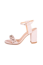 Giuseppe Flessigno Nude Suede Heels - Front full body