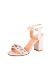 Giuseppe Flessigno Nude Suede Heels - Front cropped