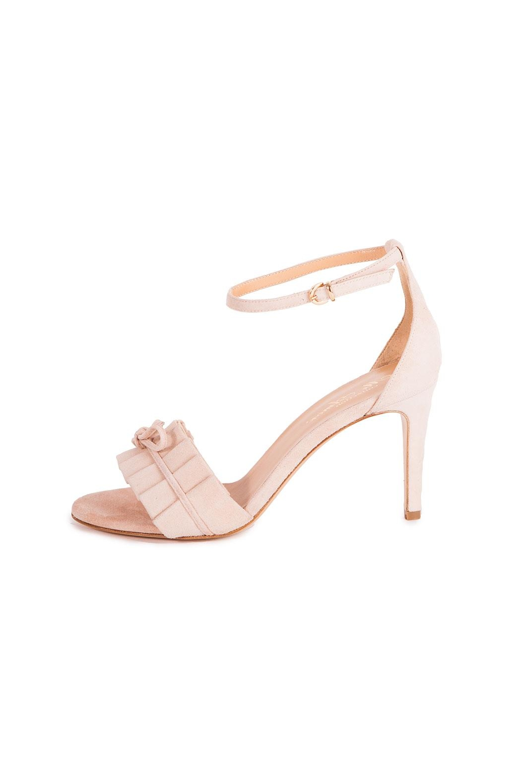 Giuseppe Flessigno Stiletto Suede Sandals - Front Full Image