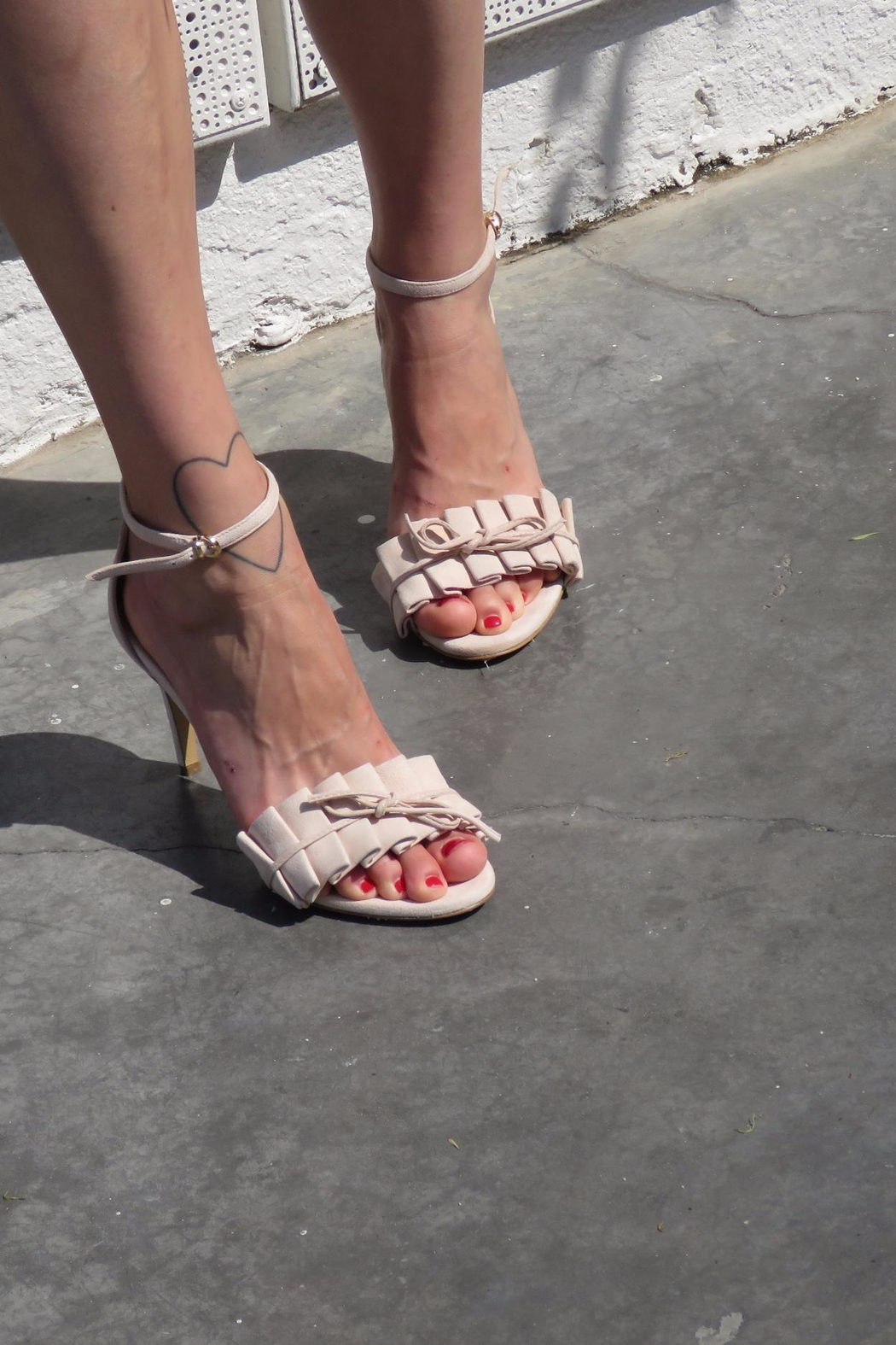 Giuseppe Flessigno Stiletto Suede Sandals - Back Cropped Image