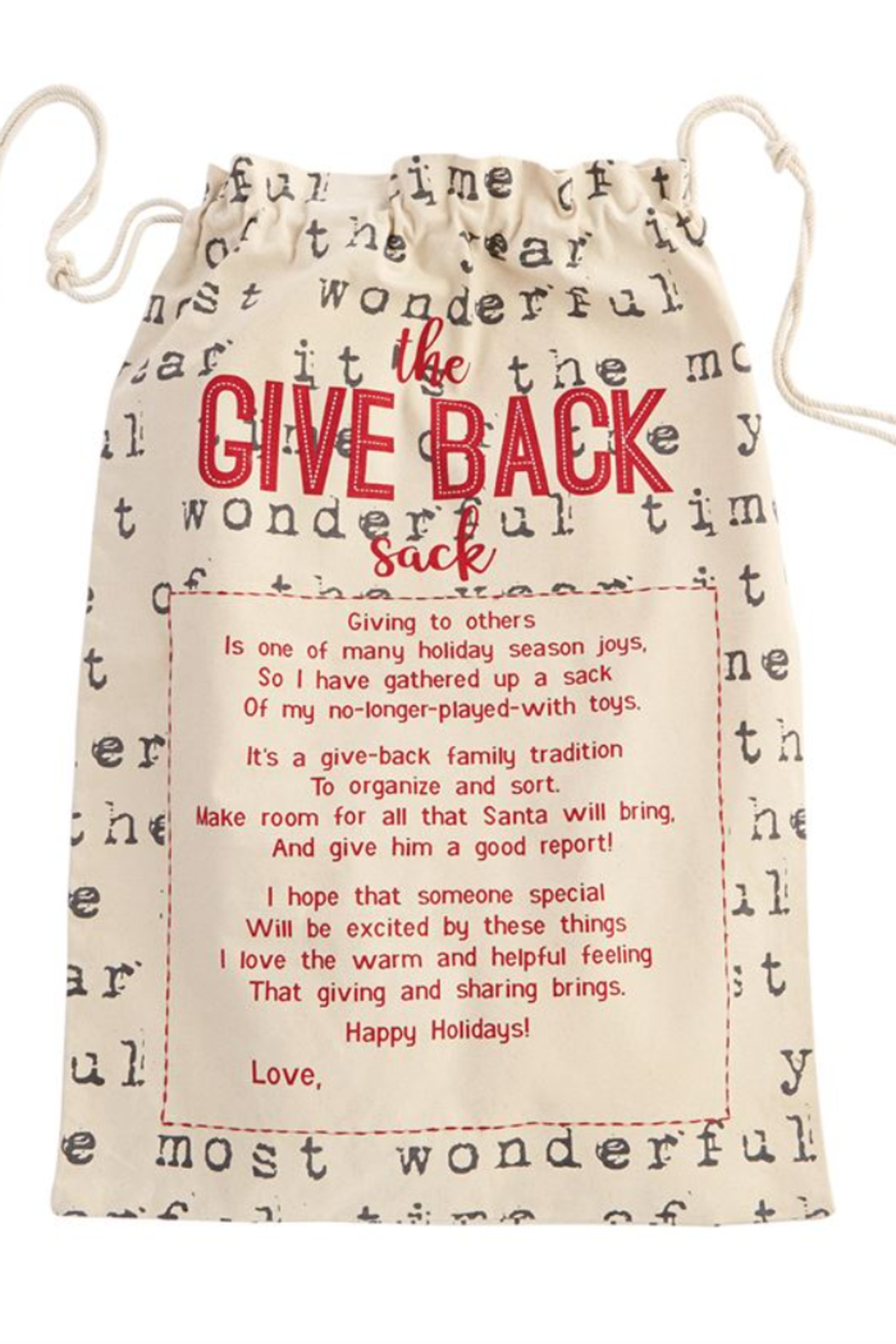 MudPie Give Back Sacks - Front Cropped Image