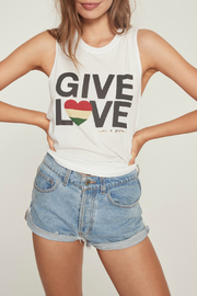 SPIRITUAL GANGSTER Give Love Muscle Tank - Product Mini Image