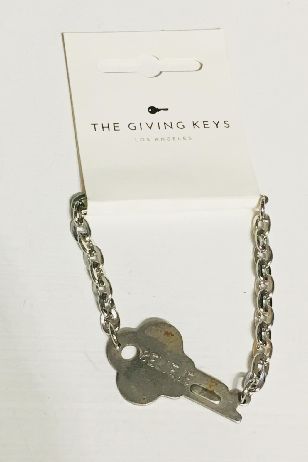 The Giving Keys Believe Bracelet Front Cropped Image